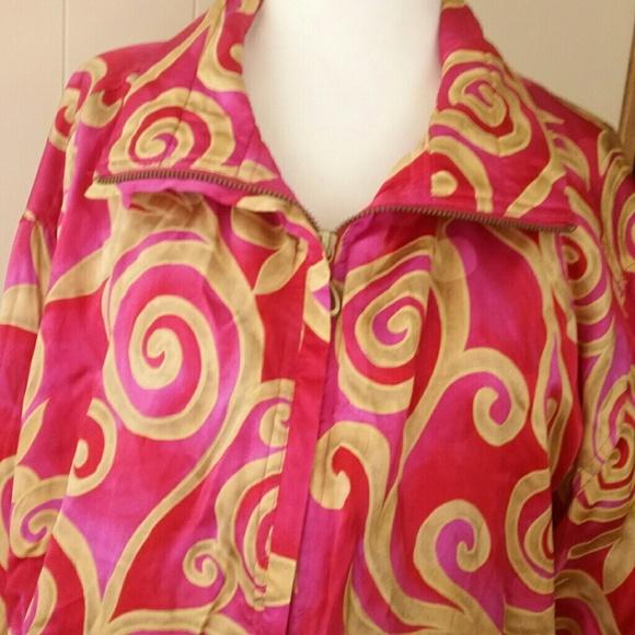 6b9043895ca 90s Vintage XL Silk Mureli Oversized Womens Jacket.  M 5adfa55500450f1d8b395430